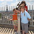 Explorers at top of Arc de Triumphe