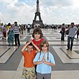 The wee three in front of Eiffel Tower (view from Trocadero)