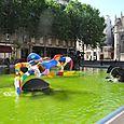 Fun fountain near Pompidou Centre