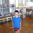 Mr 6 in Versaille's Hall of Mirrors