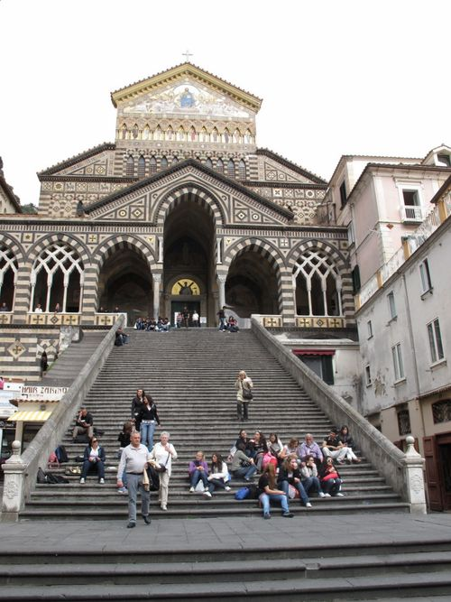 Church at Amalfi - look closely and you can see the kids at the top