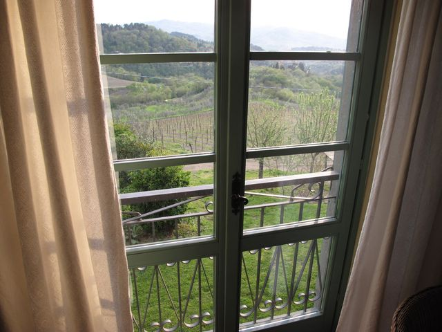 View from our window @ Antico Borgo di Sugame