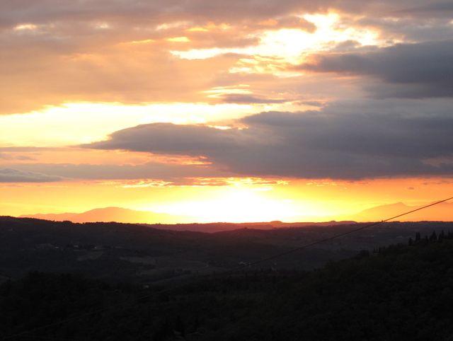 Thursday's sunset - promising