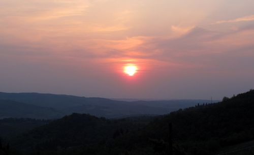 Sunset over Chianti Hills