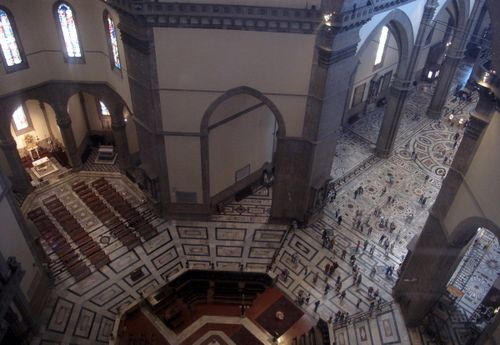 Viewing inside the Duomo as we climb to the top