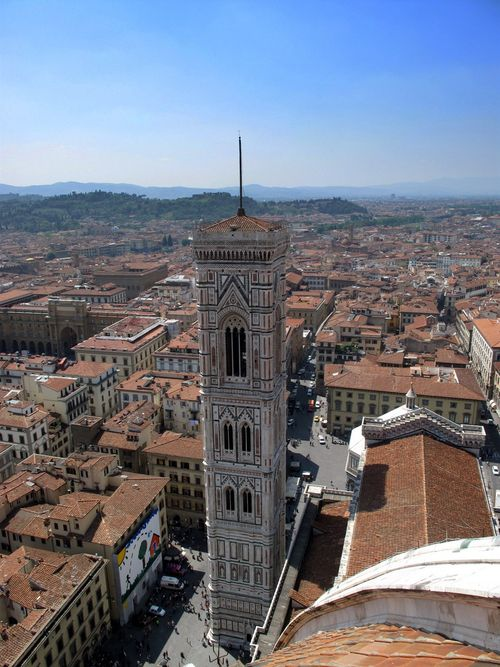 Viewing Il Campinile from the top of the Duomo