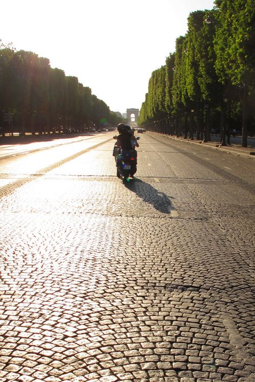 Sunsetting on Champs Elysee