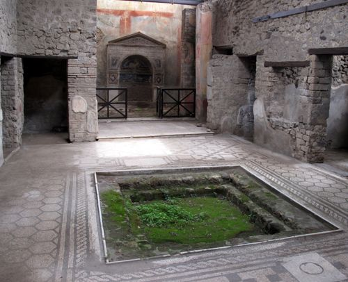 One of the smaller grand houses in Pompeii