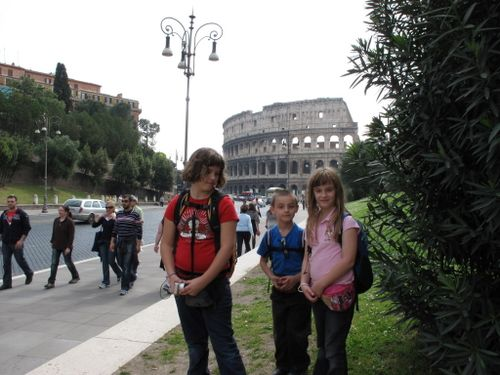 Passing forum on way to Colosseum