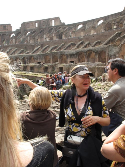 Colosseum tour guide - excellent history lesson delivered passionately