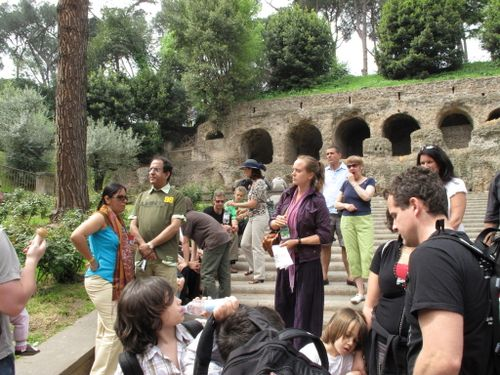 Our tour group getting ready to acend Palatine Hill