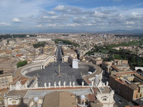 View from Cupola of St Peter's Basilica
