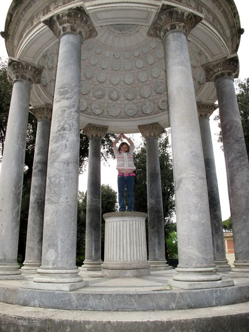 A statue of a goddess in Borghese Gardens