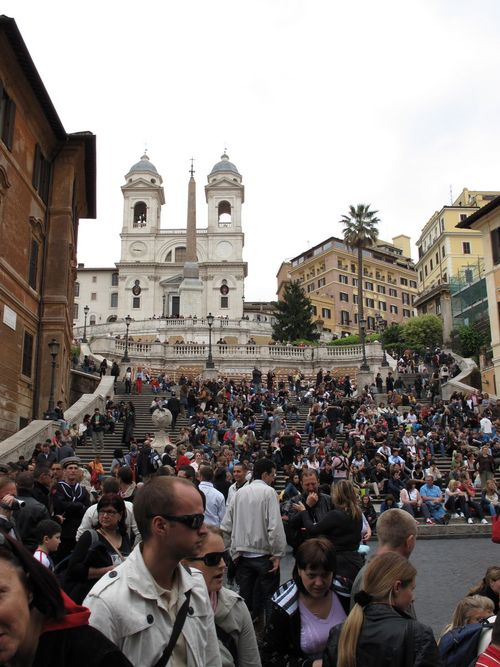 Spanish Steps on a Saturday