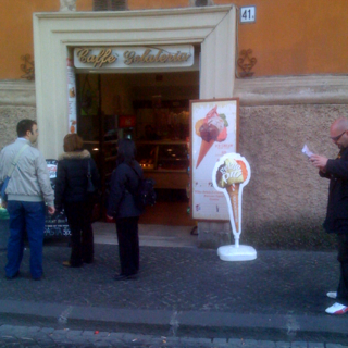 The home of the best gelato in Rome - near St Peter's square