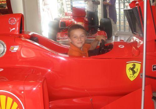 Mr 6 fufilling his dreams of driving a Ferrari