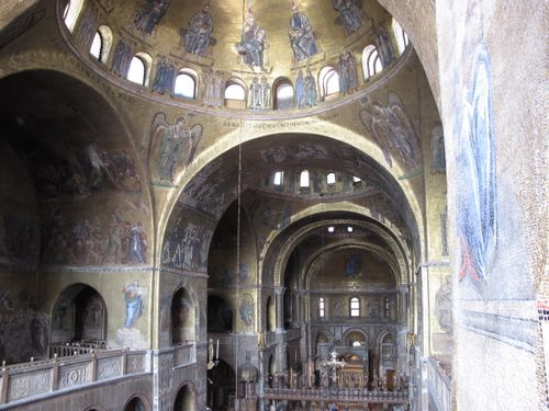 View up into St Mark's Basilica